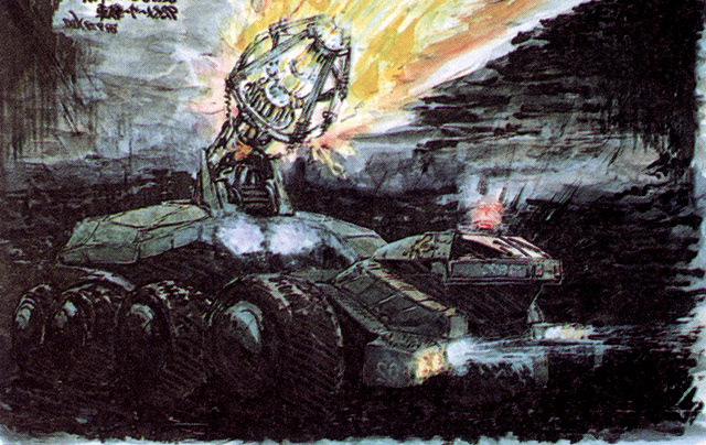 File:Concept Art - Godzilla vs. Biollante - MBT-92 3.png