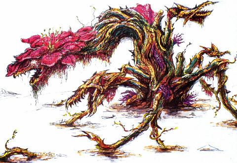 File:Concept Art - Godzilla vs. Biollante - Biollante Rose 12.png