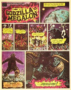 Godzilla vs. Megalon Comic Cover Page