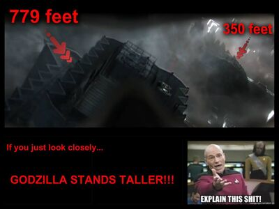 Proof that godzilla is 245 meters tallIN YOUR FACE