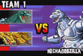 Gojira Godzilla Domination - Team 1 VS MechaGodzilla 2