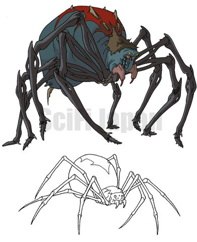 File:Giant Mutant Black Widow Spider and Hybrid Spider.jpg