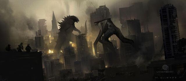 File:Concept Art - Godzilla 2014 - Godzilla vs. MUTO 7.jpg