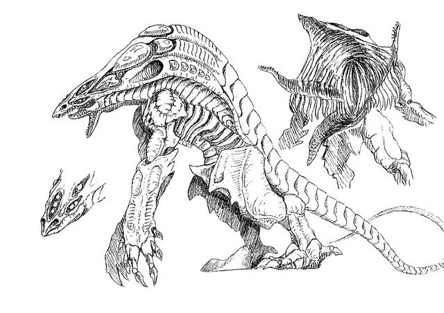 File:Concept Art - Godzilla 2000 Millennium - Orga 99.png