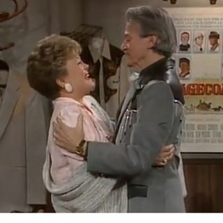 Blanche and Big Daddy hugging, when Big Daddy wanted to pursue a career as a country singer. (played by <a href=