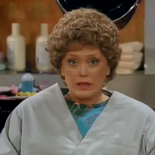 Blanche, being one of the three victims of a Sophia-like hairstyle.