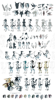 Sergal Reference Sheet SFW 2000 x 3682