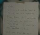 Note on the Front Door