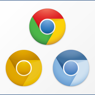 Chrome, Chrome Canary, and Chromium logos