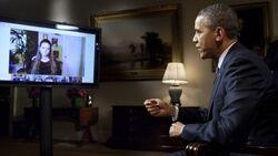 Barack Obama hangout