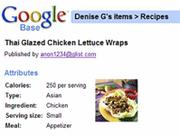 Modified recipe screenshot