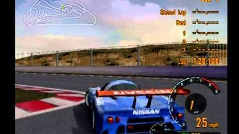 Gran Turismo 3 Test Drive Nissan R390 GT1 LM Race Car