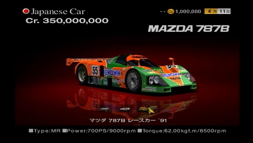 Mazda 787b Race Car 91 Gran Turismo Wiki Fandom