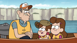 S1e2 lookalikes and grandfather in boat