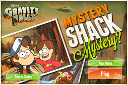 Game mystery shack mystery start menu