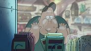 S1e16 waddles faces on glass