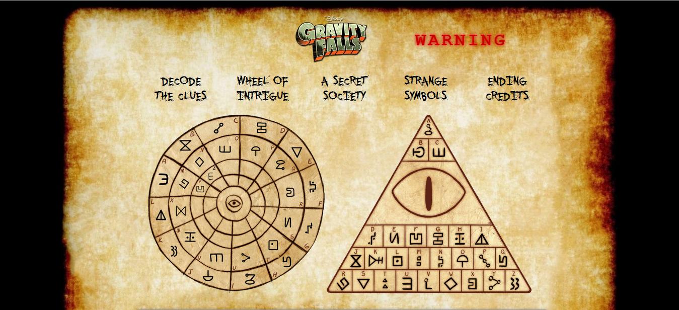 Image The Mystery Of Gravity Falls Strange Symbols Png