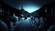 S2e1 blue lit town