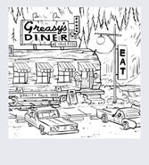 Greasy's diner sketch