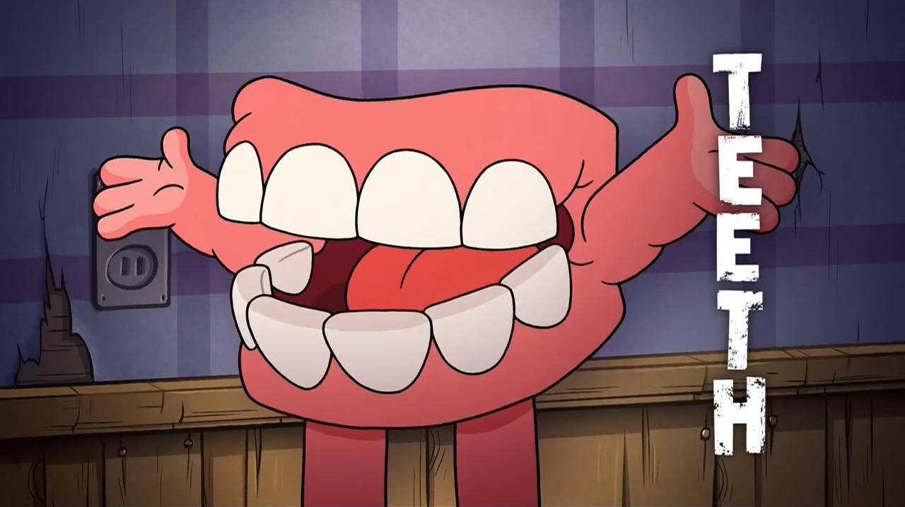 「teeth gravity falls」の画像検索結果