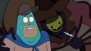 S1e12 Soos with The Creature in a coat