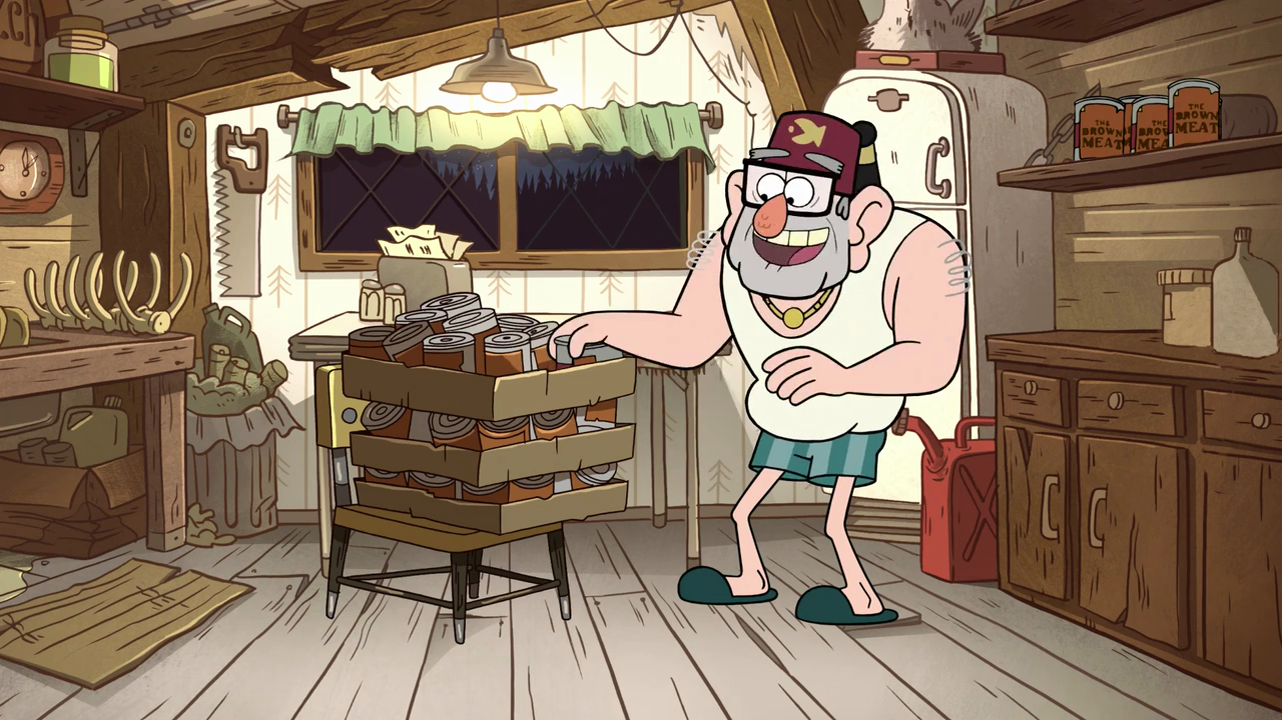 Image result for gravity falls grunkle stan in white shirt and shorts