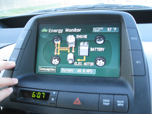 File:The Prius dashboard.jpg