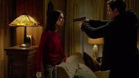 414-Nick points his gun at Juliette