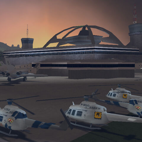 The helicopters with the Rockstar logo on them in GTA III.