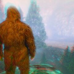 Player as the Bigfoot after eating the Peyote Plant.