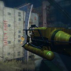 A submarine in GTA V looking at a shipwreck