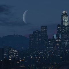 Waning Crescent Moon in GTA V