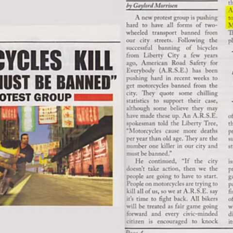 The newspaper story about the motorcycles. Note the highlighted section, which is where Maibatsu are mentioned.