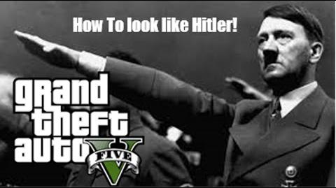 GTA 5 Online- How to look like Adolf Hitler!