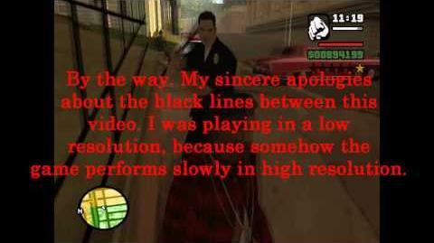 Grand Theft Auto- San Andreas - Ghost Police Car Glitch