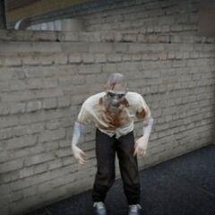 Zombie street performer in Vinewood (GTA V)
