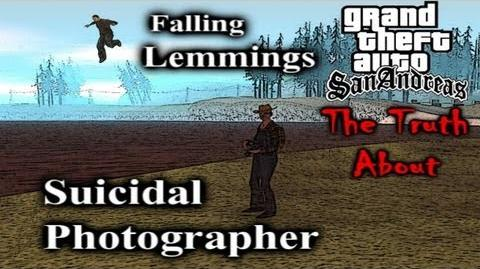 GTA SA Myth - The Truth About The Suicidal Photographer & Falling Lemmings