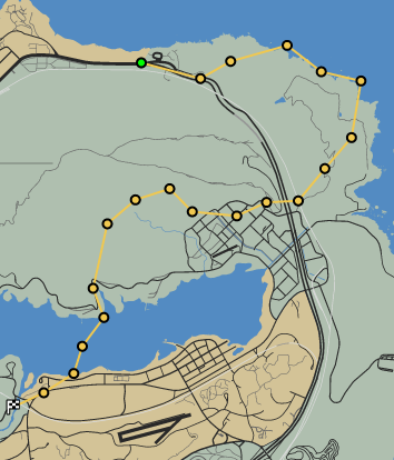 Plane to Sea GTAO Race Map
