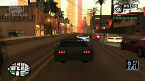 GTA San Andreas - Walkthrough - Street Race - Freeway (HD)