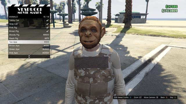 File:GTAO-Animal-Tan Ape Mask.png