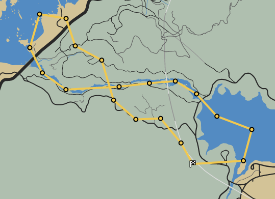 File:Loose Canyon GTAO Race Map.png