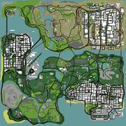 Gta sa bribes map