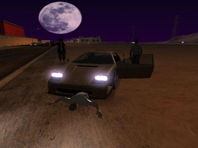 File:A car on a police man.jpg