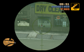 First-Person View (GTA3) (sniper rifle)