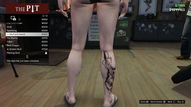 File:Tattoo GTAV-Online Female Right Leg Skull and Sword.jpg