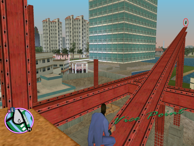 File:GTAVC HiddenPack 20 S end 2nd floor girder on unfinished Avery Carrington construction site.png
