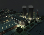 Acter Nuclear Power Plant GTAIV from west by night