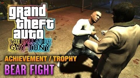 GTA The Ballad of Gay Tony - Bear Fight Achievement Trophy (1080p)