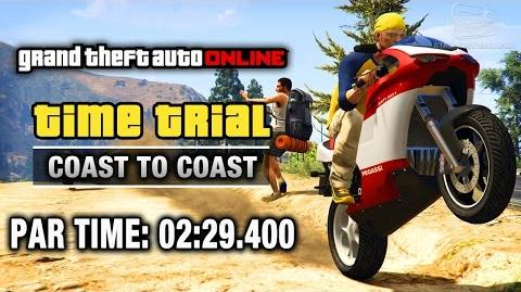 GTA Online - Time Trial 14 - Coast to Coast (Under Par Time)