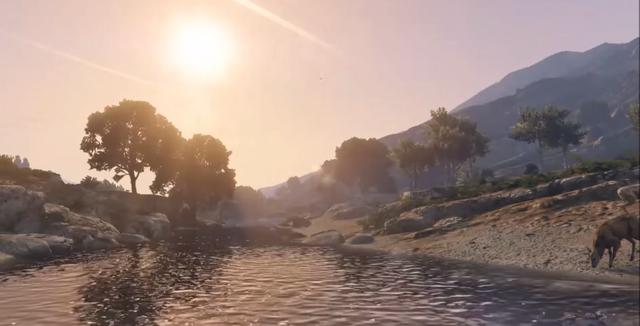 File:GTA V Sunset Zancudo River.png